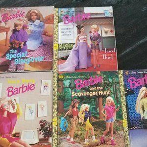 Lot of 5 BARBIE Little Golden Books Vintage